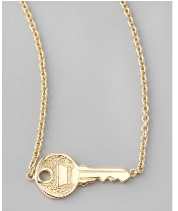 Sideways Key Necklace