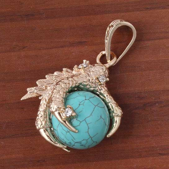 Turquoise Eagle Claw Charm