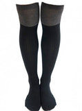 Thigh High Colorblock Socks