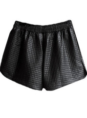 Texture Leather Shorts