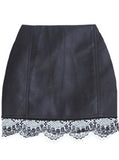 Leather And Lace Skirt