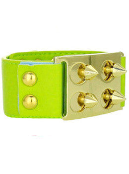 Leather Cone Rivet Cuff