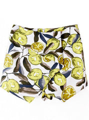 Lemon Twist Printed Skort