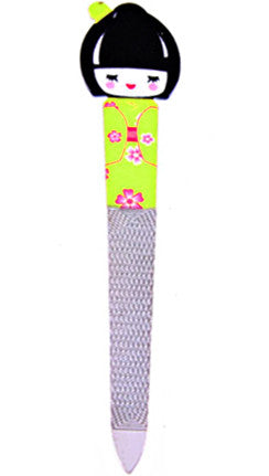 Green Geisha Girl Nail File