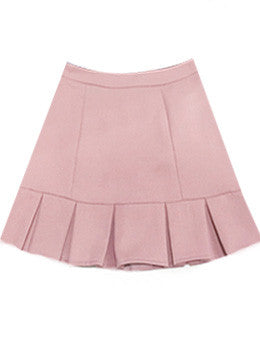 Pleat Trim Mini Skirt