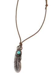 Suede Feather Necklace