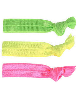 Neon Hair Tie Set