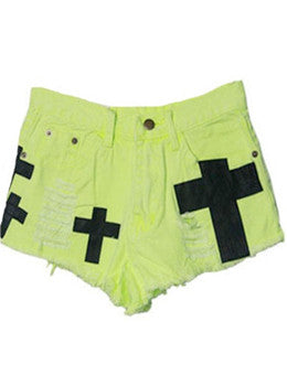 Neon Cross Shorts