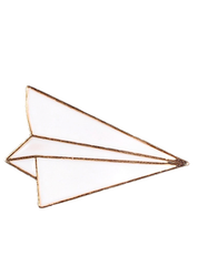 Paper Plane Brooch Pin