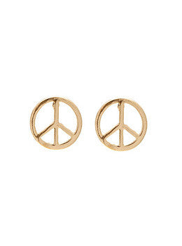 Mini Peace Sign Earrings
