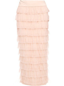 Peach Tulle Skirt