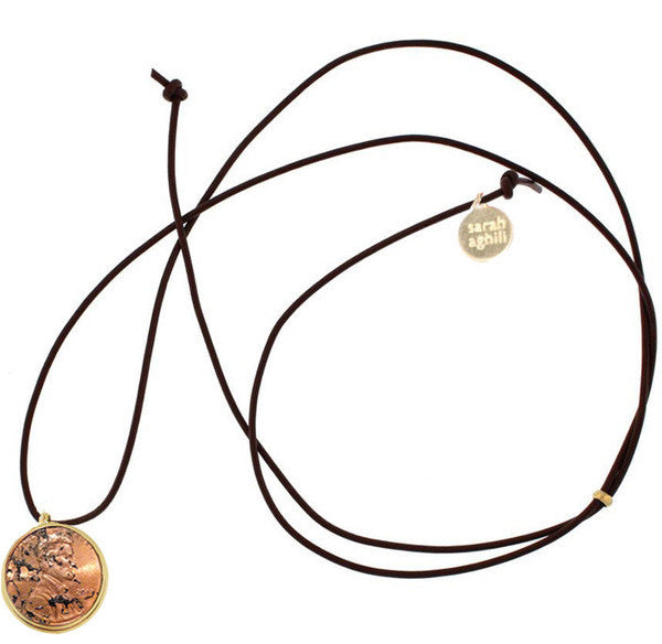Penny Charm Cord Necklace