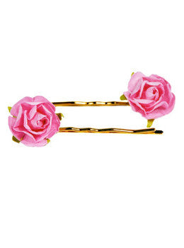 Pink Floral Bobby Pin