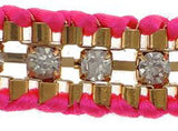 Hot Pink Crystal Friendship Bracelet