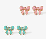 Pastel Bow Earrings