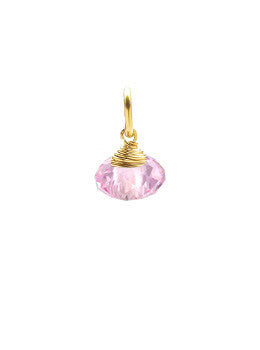 Pink Facet Drop Charm