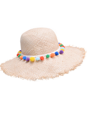 Wide Straw Raffia Hat