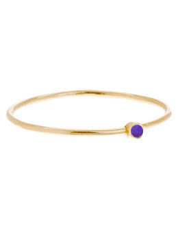 Violet Enamel Thin Ring