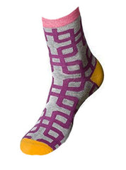 Purple Maze Socks