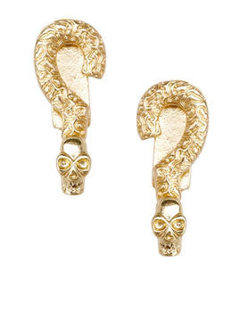 Skull Accent Earrings