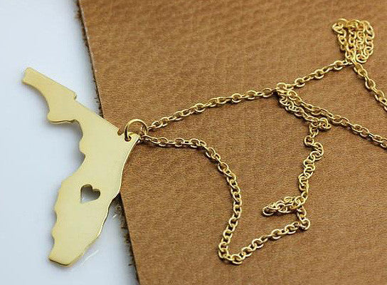 Florida Map Necklace