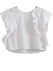 Cropped Ruffle Blouse