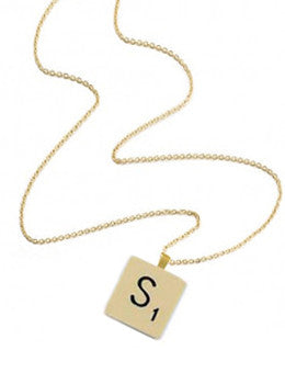 """S"" Scrabble Letter Necklace"