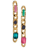 Gemstone Chain Earrings