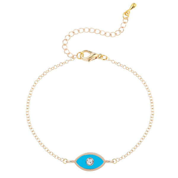 Diamond Evil Eye Bracelet