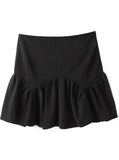 Noir Flounced Studio Skirt