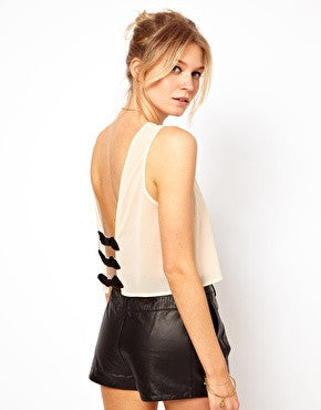 Bow Back Crop Top