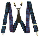Patterned Boyfriend Suspenders