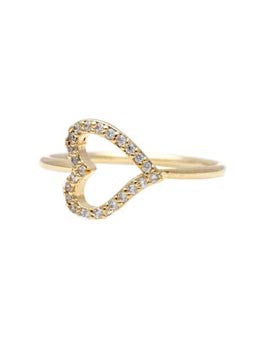 Pave Accent Heart Ring
