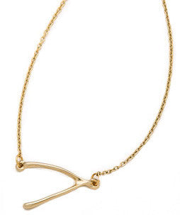 Curved Wishbone Necklace