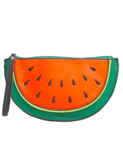 Watermelon Leather Clutch