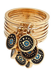Evil Eye Stack Ring Set