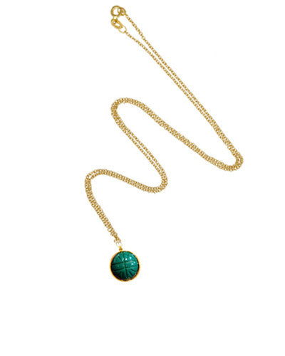 Scarab Pendant Necklace