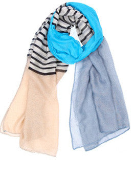 Stripe Color Block Scarf