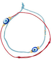 Set Of 2 Evil Eye Thread Bracelets