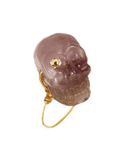 Amethyst Skull Head Ring