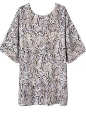 Snakeskin Tunic Dress