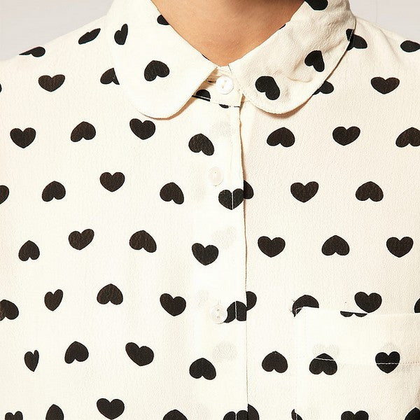 Button Down Heart Blouse