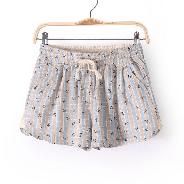 Anchor Print Shorts