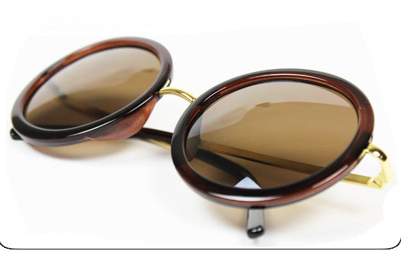 Round Tea Sunglasses