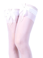 Thigh High Bow Socks