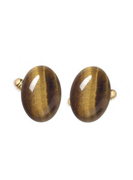 Oval Tiger Eye Cufflinks