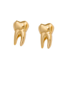 Golden Tooth Earrings