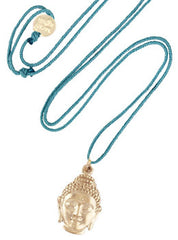Buddha Head Cord Necklace