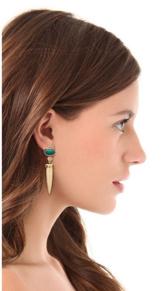 Turquoise Dagger Earrings