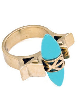 Turquoise Spike Ring